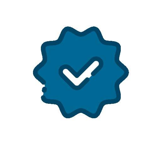Icon mit einem Qualitätssiegel